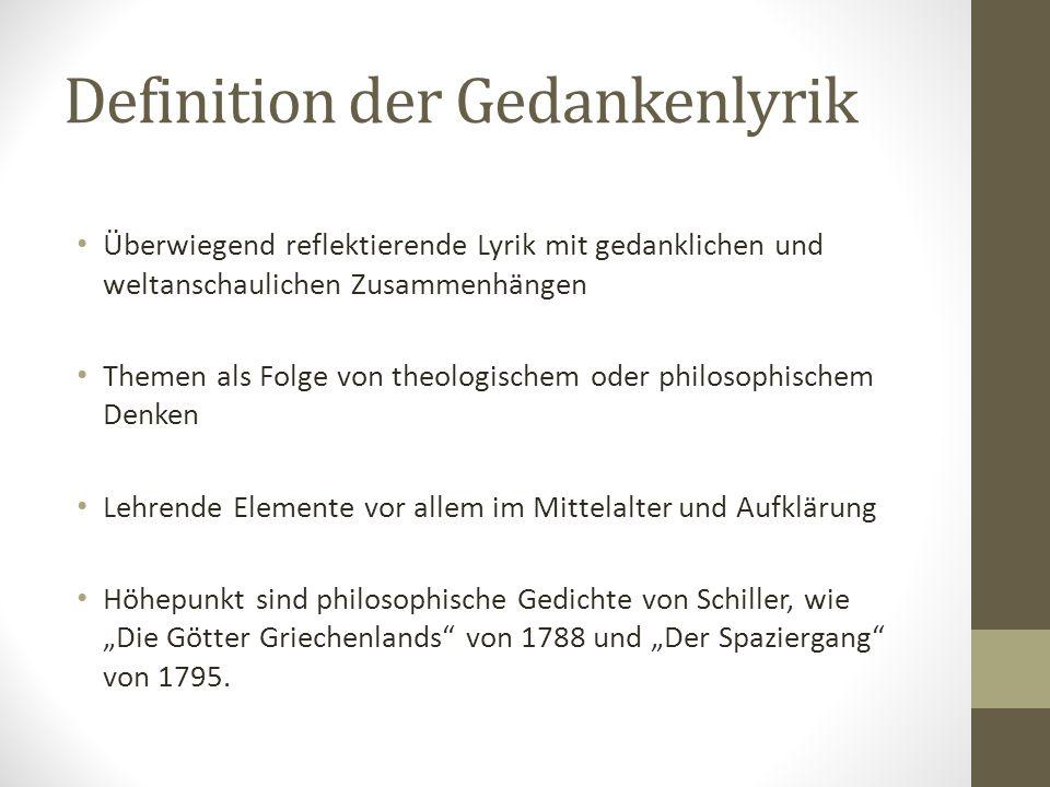 Definition der Gedankenlyrik