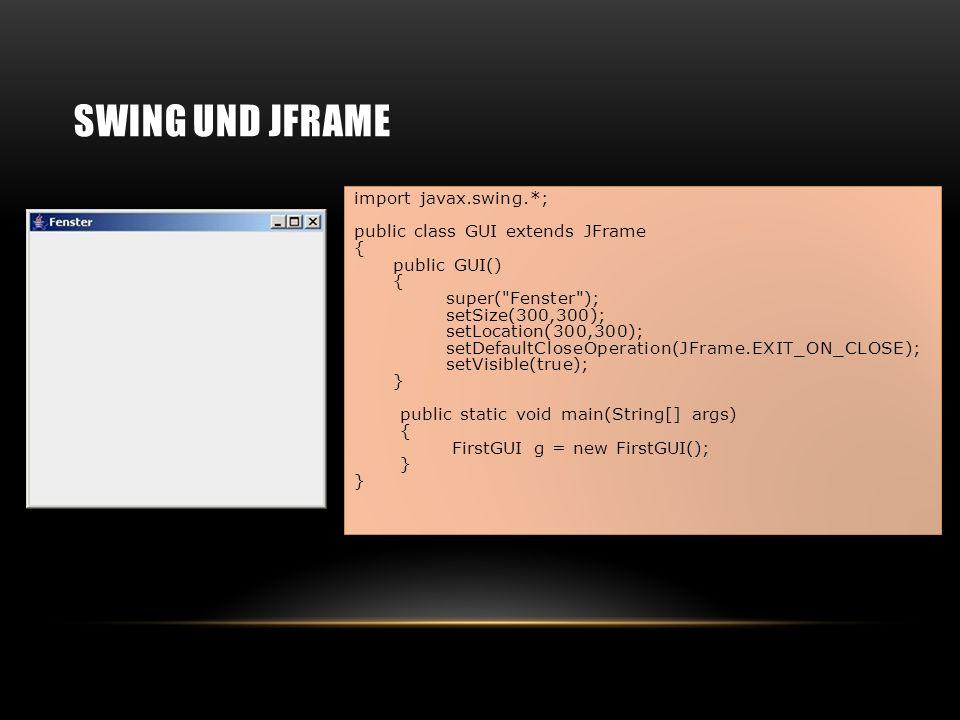 Swing und JFrame