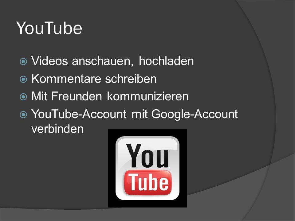 YouTube Videos anschauen, hochladen Kommentare schreiben