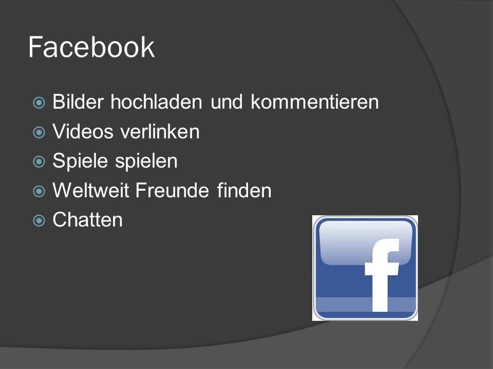 Facebook Bilder hochladen und kommentieren Videos verlinken