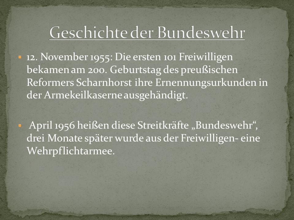 Geschichte der Bundeswehr