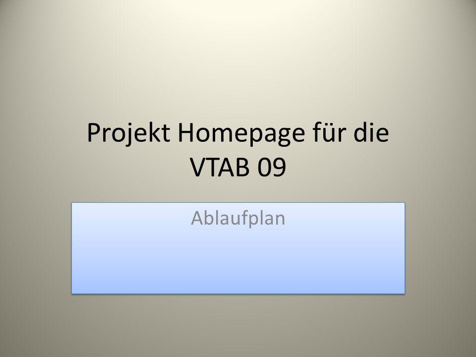 Projekt Homepage für die VTAB 09