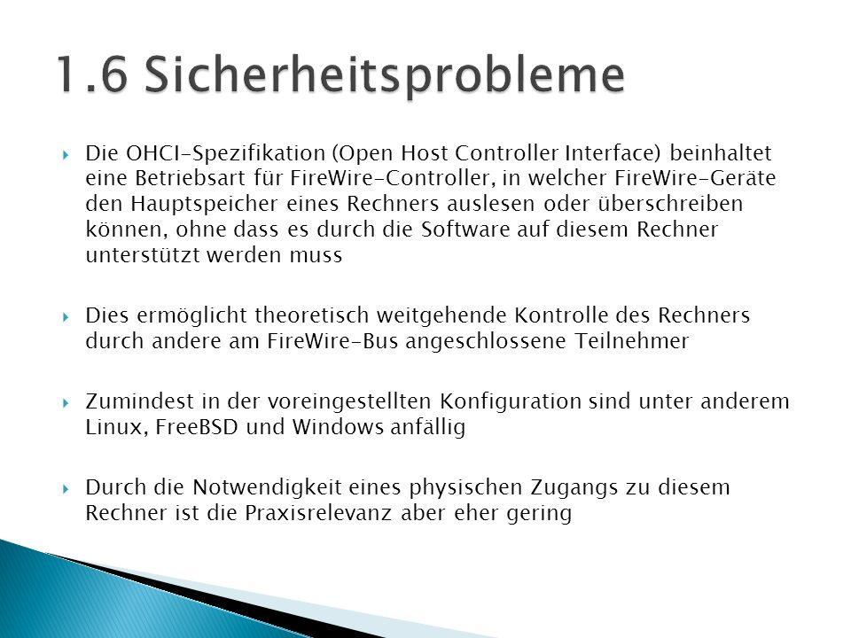 1.6 Sicherheitsprobleme
