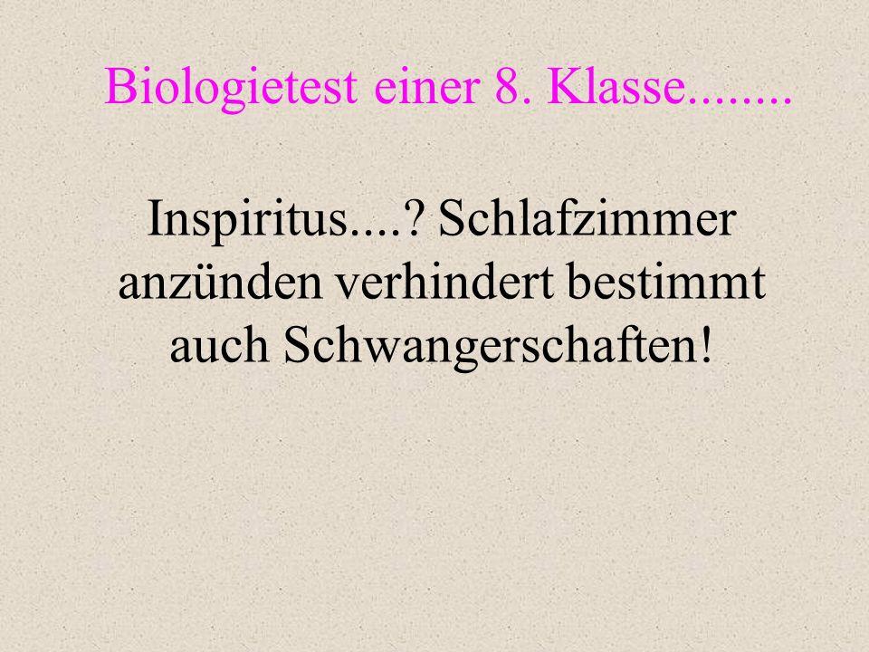 Biologietest einer 8. Klasse........