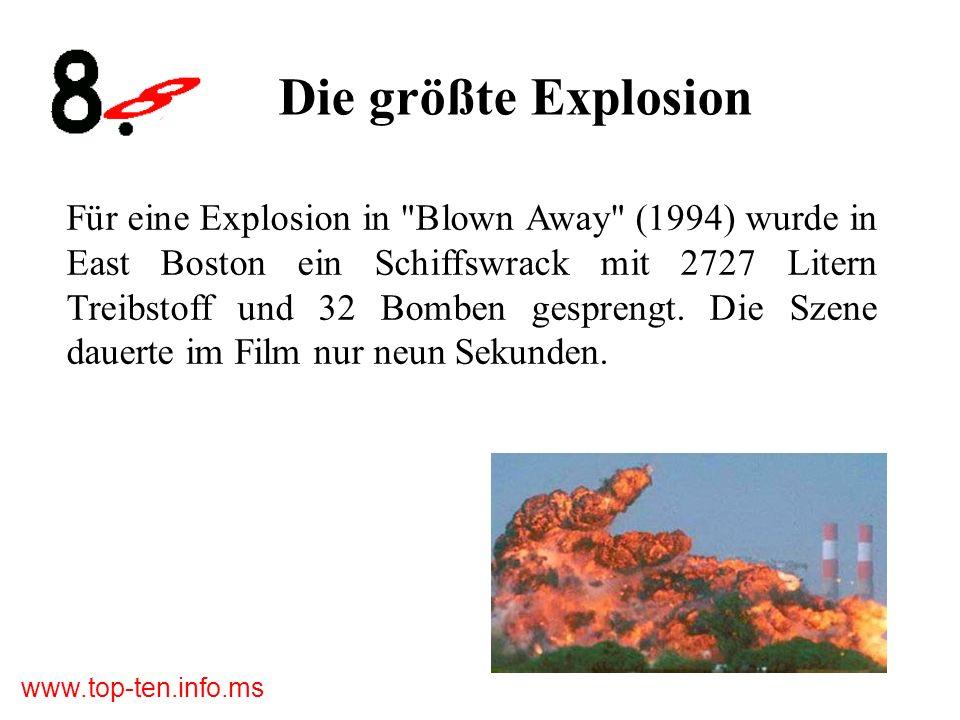 Die größte Explosion