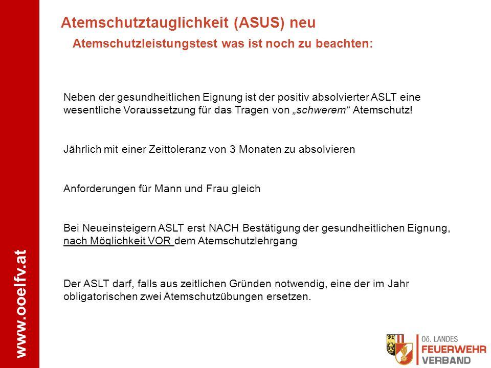 Atemschutztauglichkeit (ASUS) neu