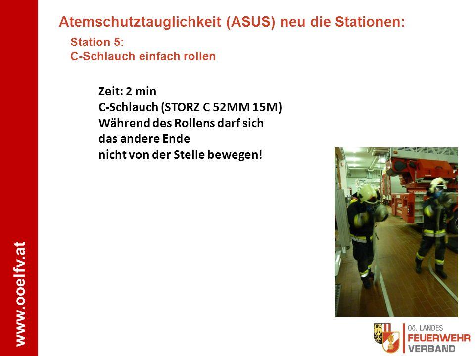 Atemschutztauglichkeit (ASUS) neu die Stationen:
