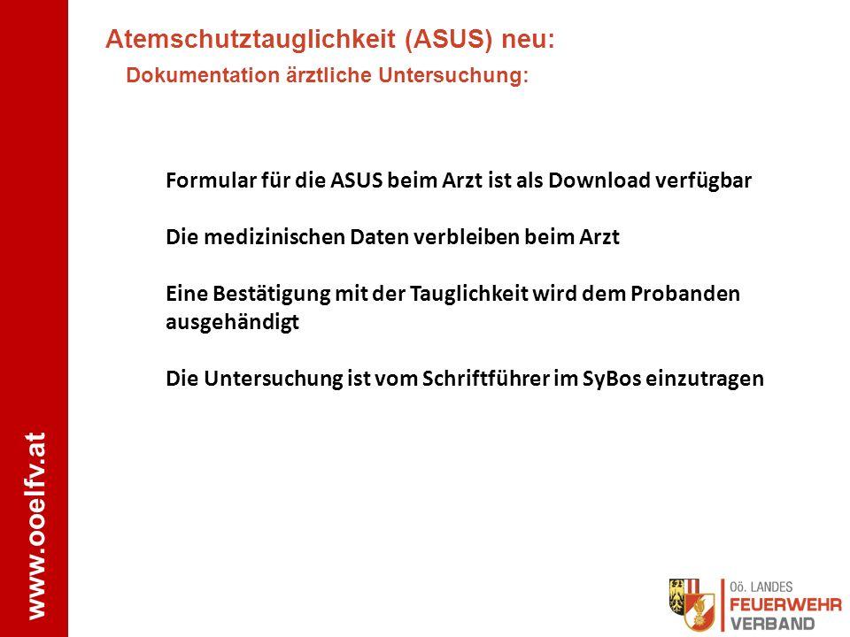 Atemschutztauglichkeit (ASUS) neu: