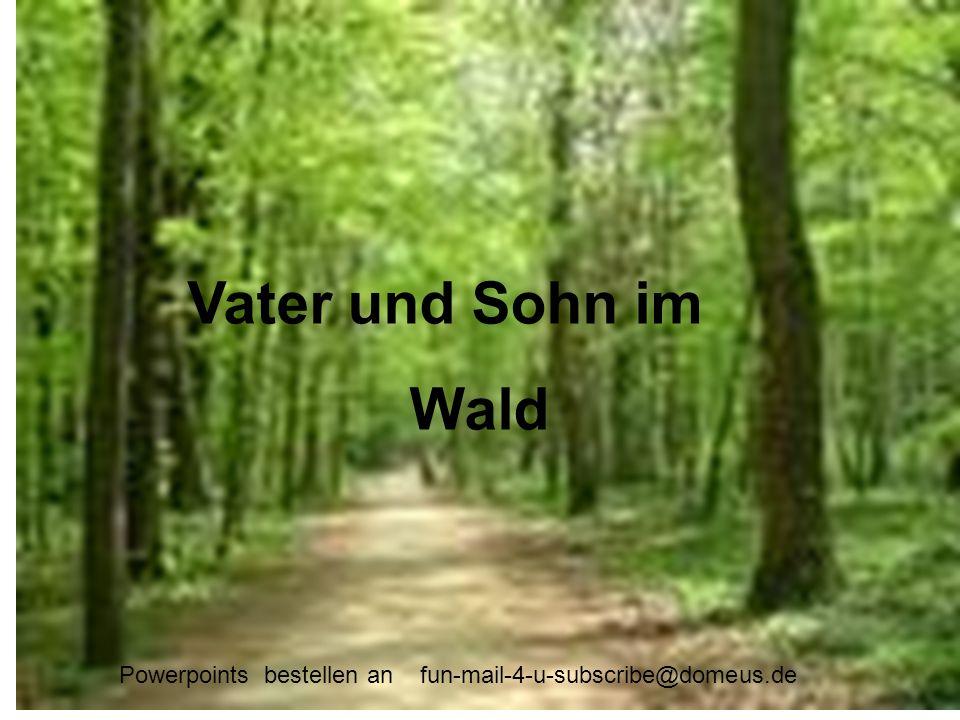 Vater und Sohn im Wald Wald