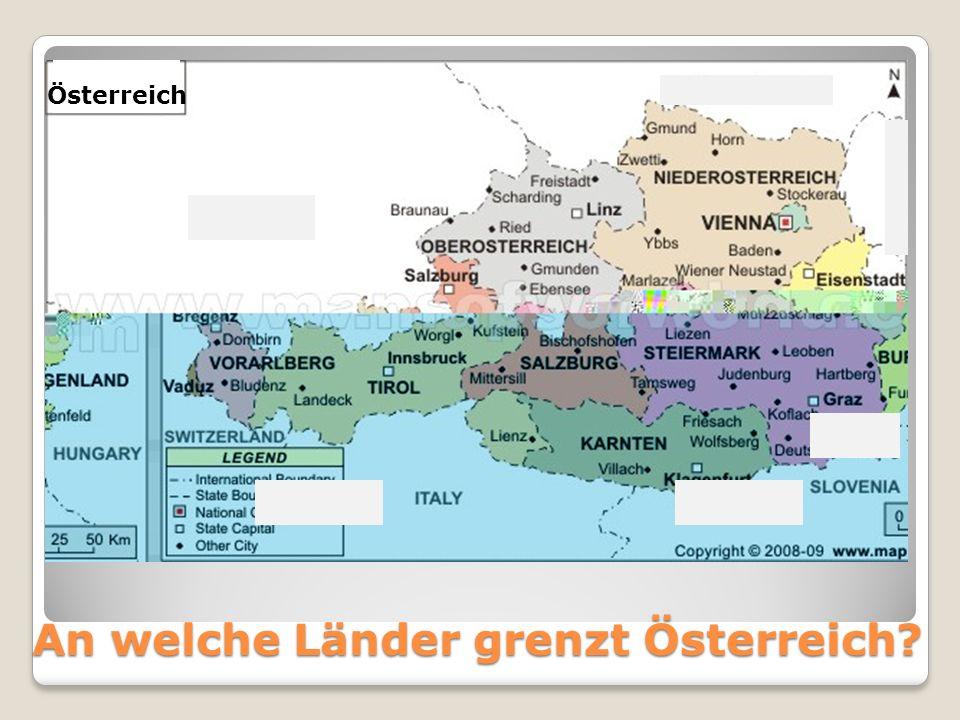 An welche Länder grenzt Österreich