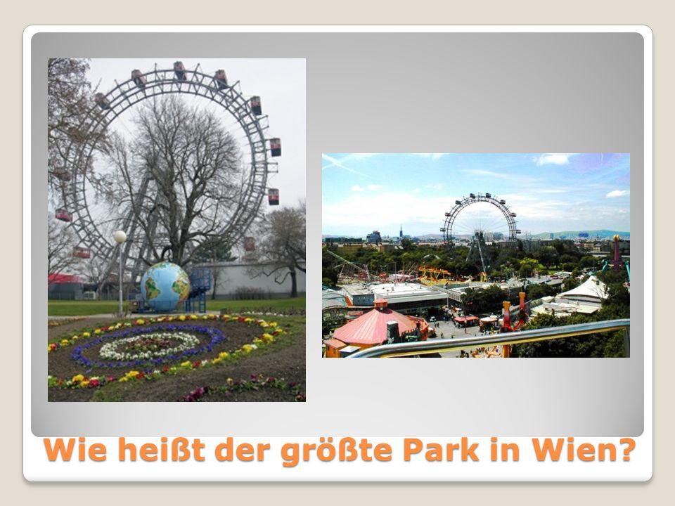 Wie heißt der größte Park in Wien