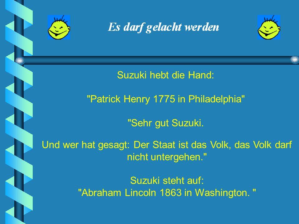 Patrick Henry 1775 in Philadelphia Sehr gut Suzuki.