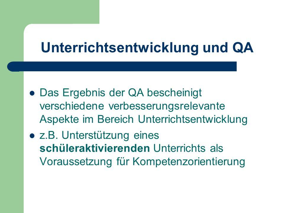 Unterrichtsentwicklung und QA
