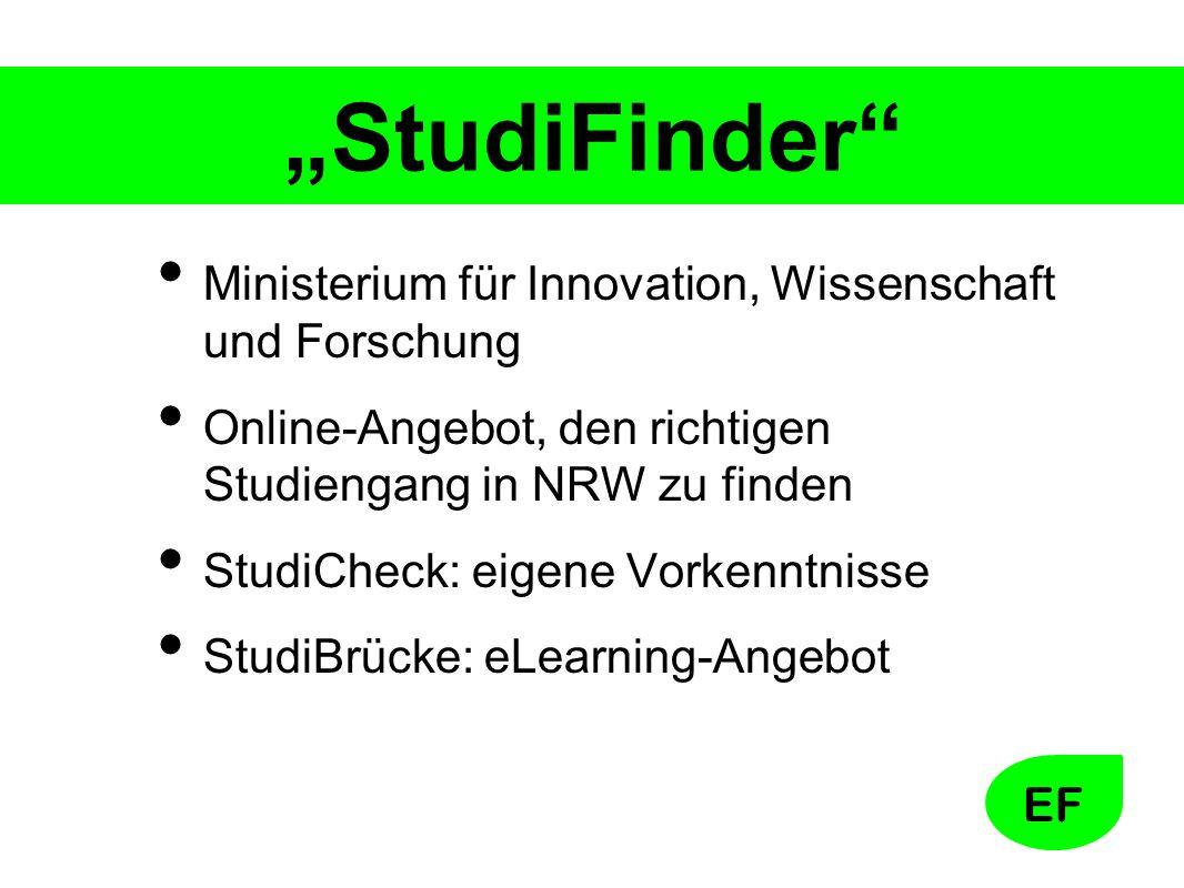 """""""StudiFinder Ministerium für Innovation, Wissenschaft und Forschung"""