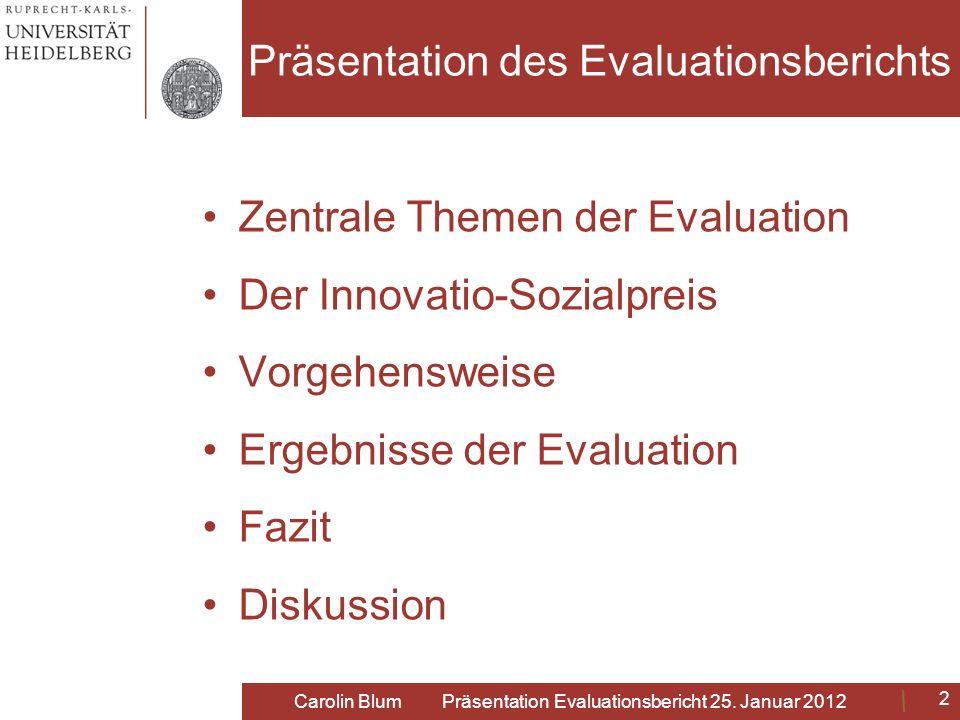 Präsentation des Evaluationsberichts