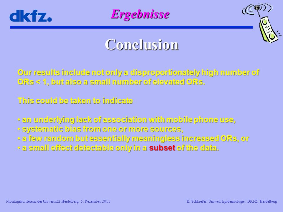 Conclusion Ergebnisse
