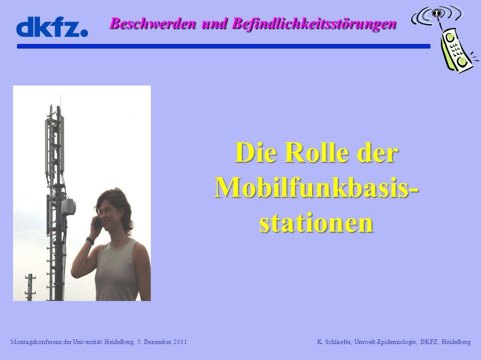Die Rolle der Mobilfunkbasis- stationen