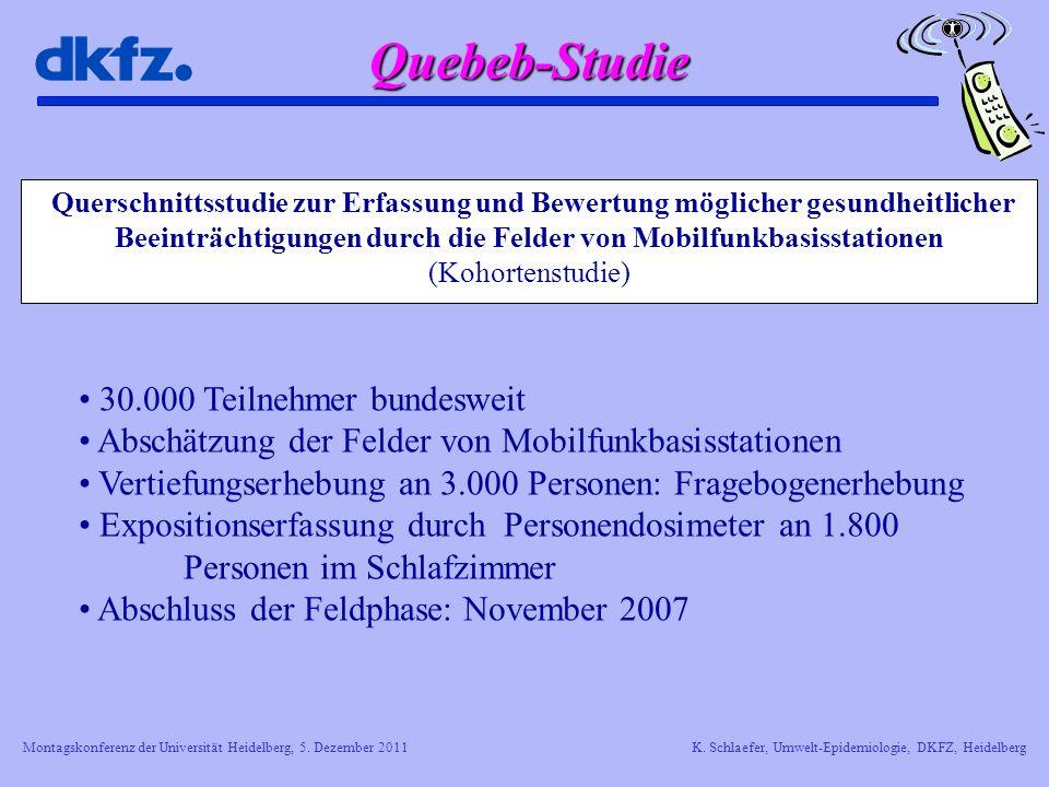 Quebeb-Studie 30.000 Teilnehmer bundesweit