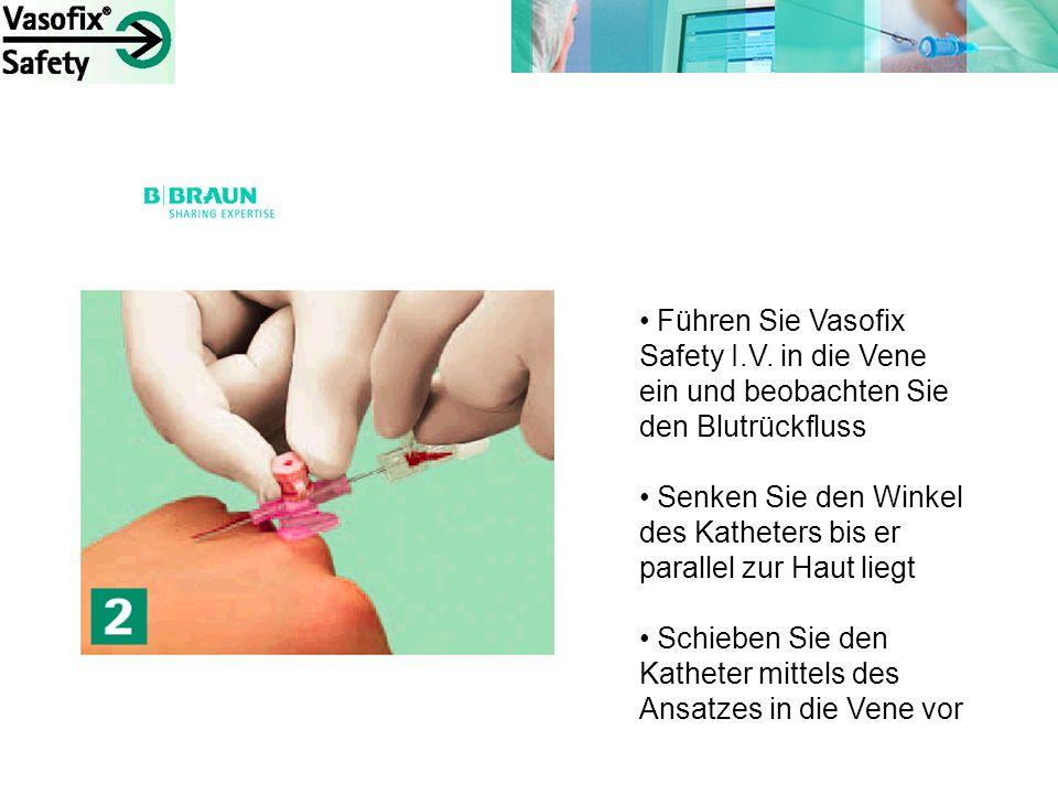 Führen Sie Vasofix Safety I. V