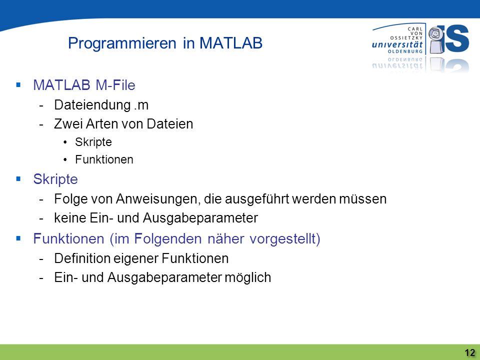 Programmieren in MATLAB