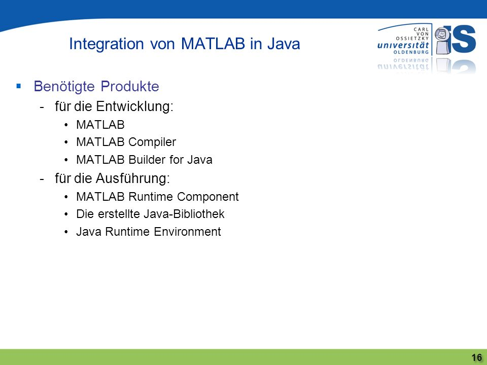 Integration von MATLAB in Java