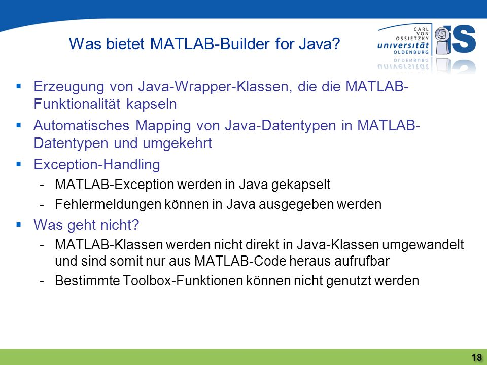 Was bietet MATLAB-Builder for Java