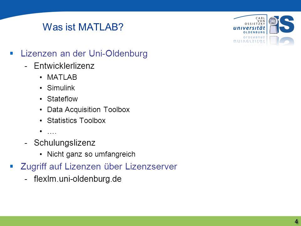 Was ist MATLAB Lizenzen an der Uni-Oldenburg