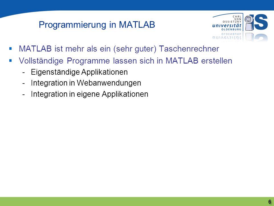 Programmierung in MATLAB