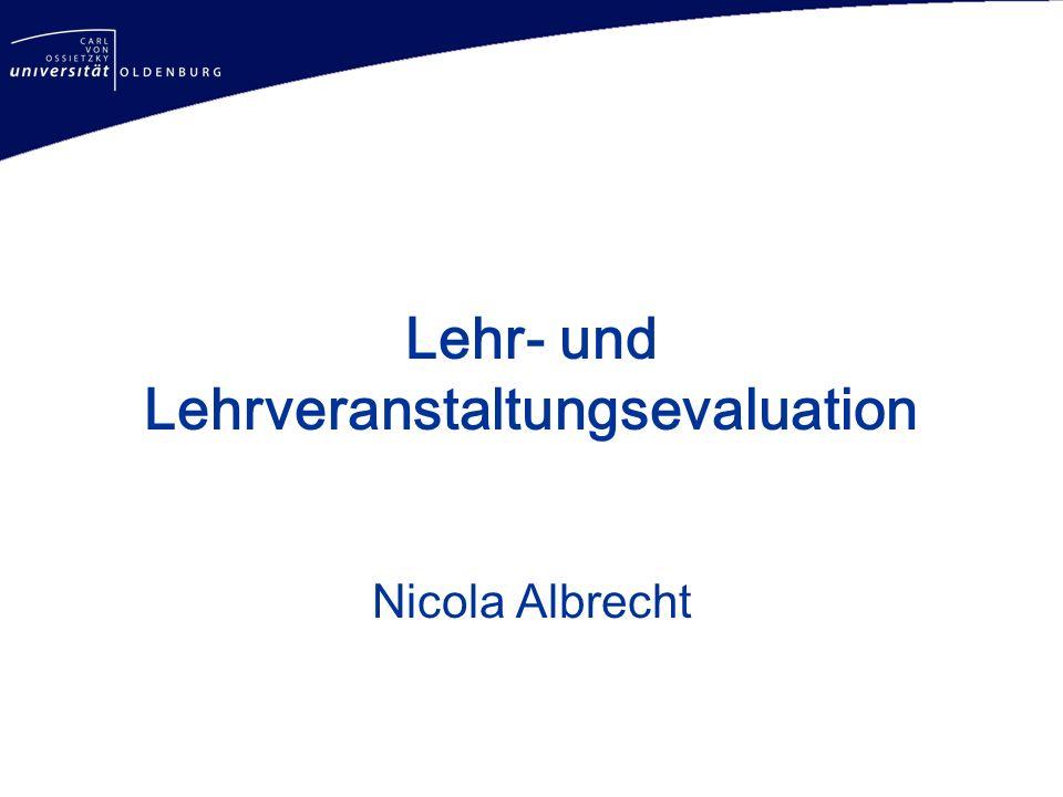 Lehr- und Lehrveranstaltungsevaluation