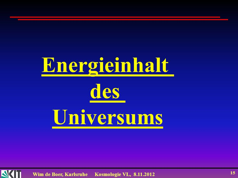 Energieinhalt des Universums