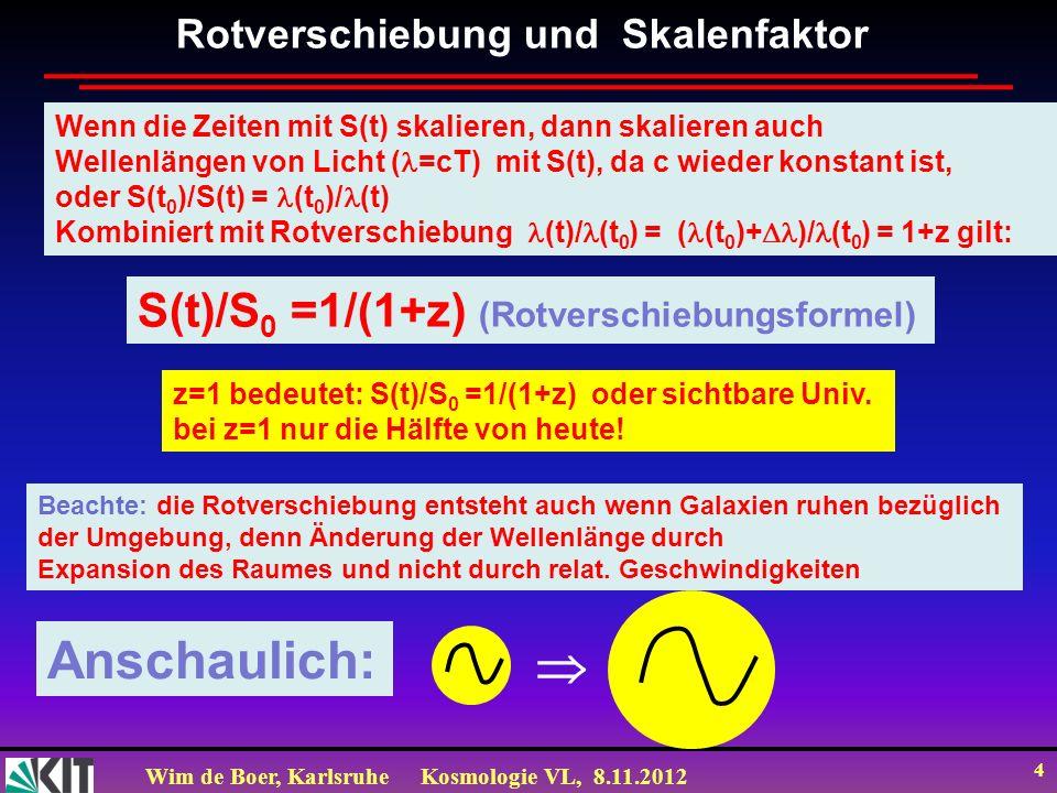Anschaulich:  S(t)/S0 =1/(1+z) (Rotverschiebungsformel)