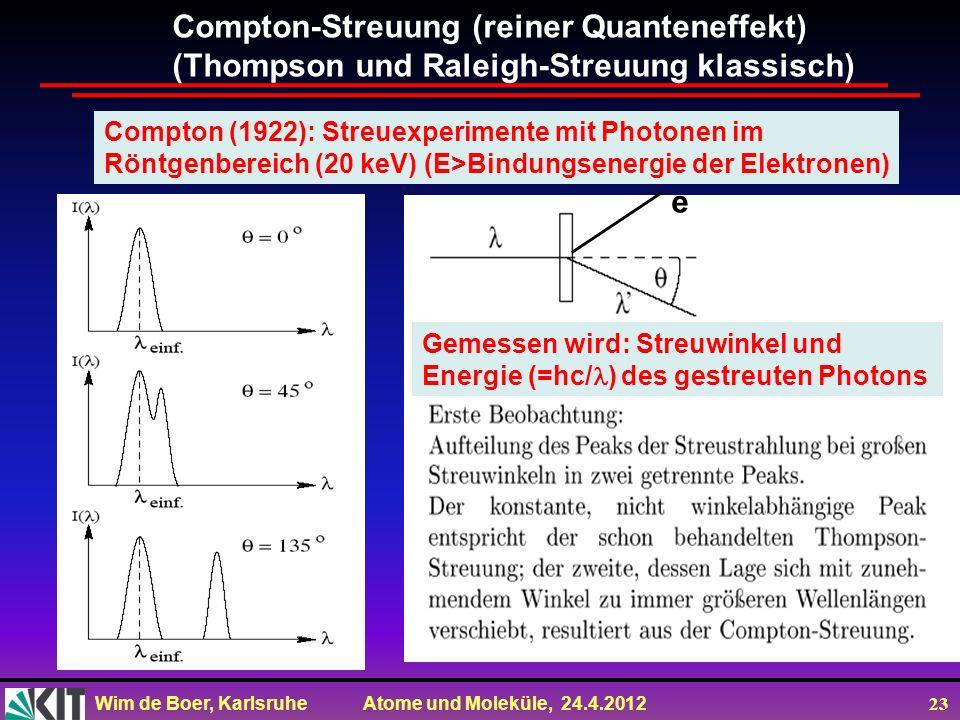 Compton-Streuung (reiner Quanteneffekt)