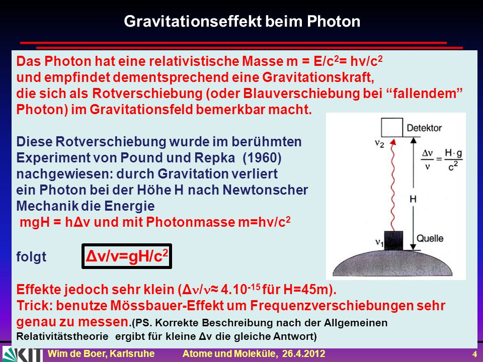 Gravitationseffekt beim Photon