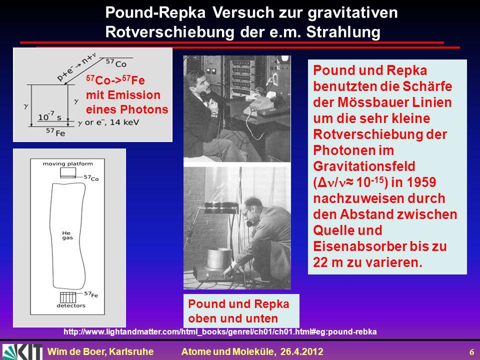 Pound-Repka Versuch zur gravitativen