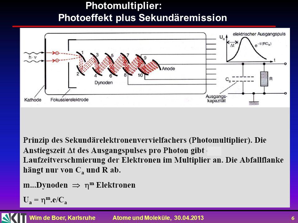 Photomultiplier: Photoeffekt plus Sekundäremission