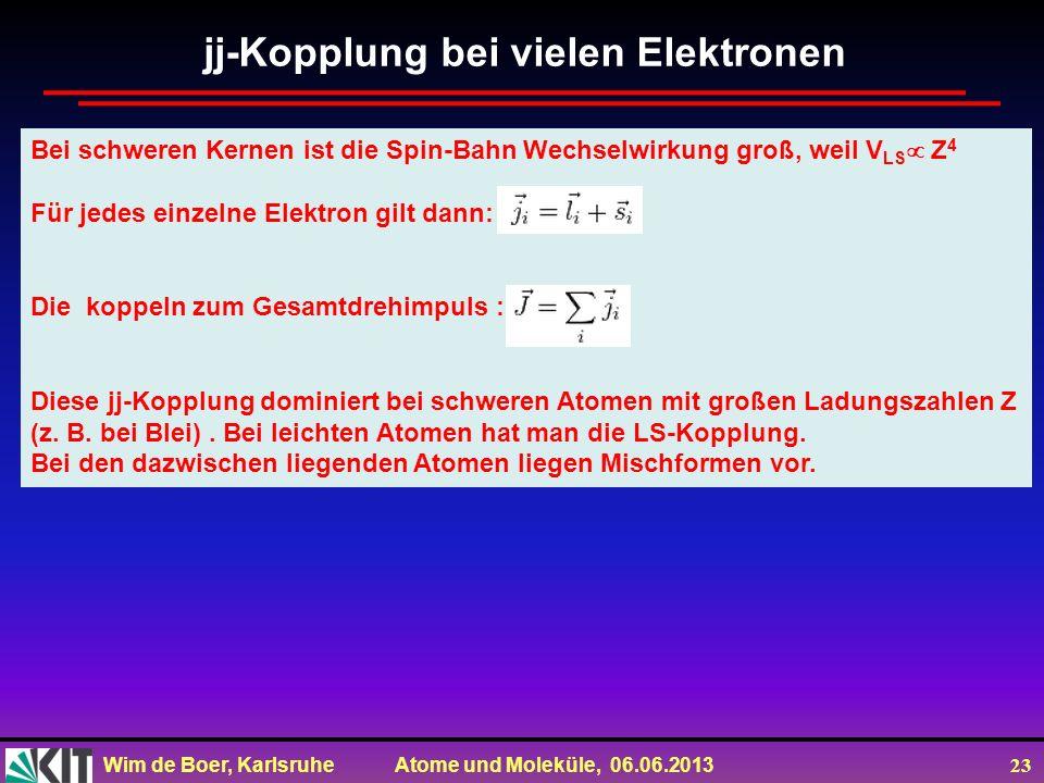 jj-Kopplung bei vielen Elektronen