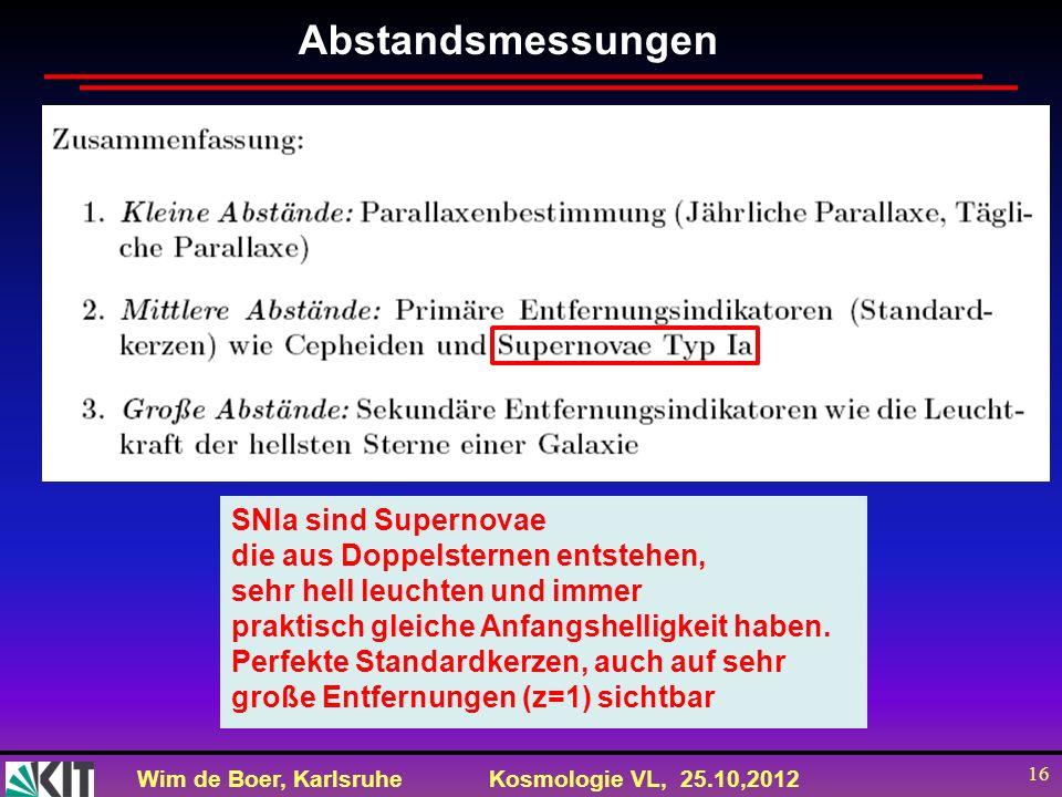 Abstandsmessungen SNIa sind Supernovae