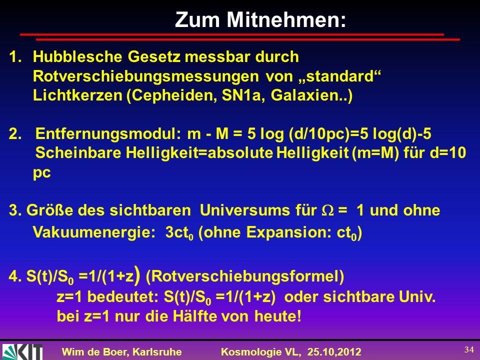 """Zum Mitnehmen: Hubblesche Gesetz messbar durch Rotverschiebungsmessungen von """"standard Lichtkerzen (Cepheiden, SN1a, Galaxien..)"""