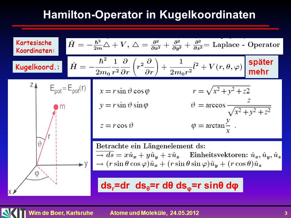Hamilton-Operator in Kugelkoordinaten
