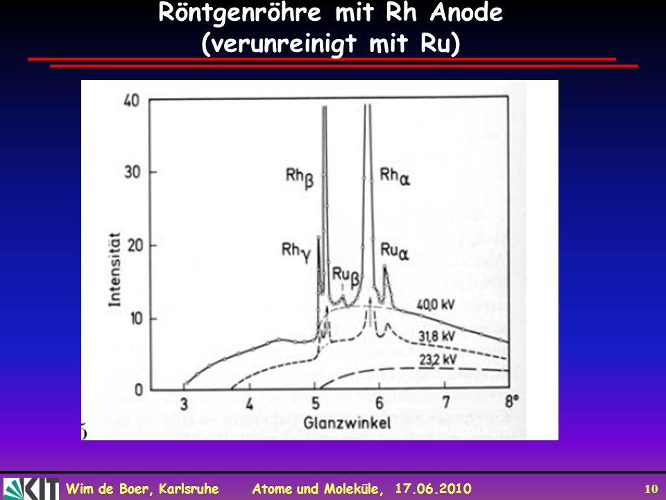 Röntgenröhre mit Rh Anode