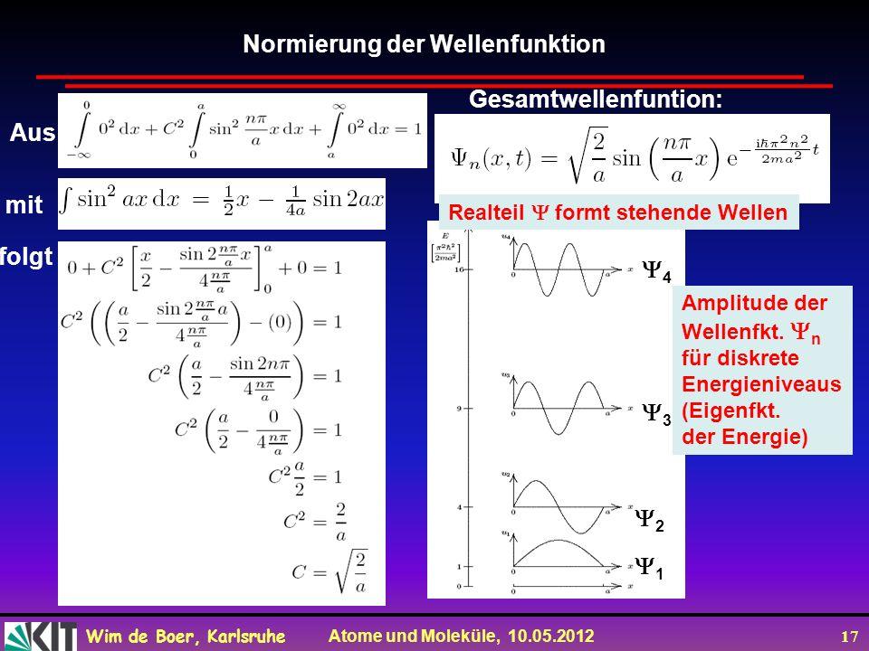 Normierung der Wellenfunktion