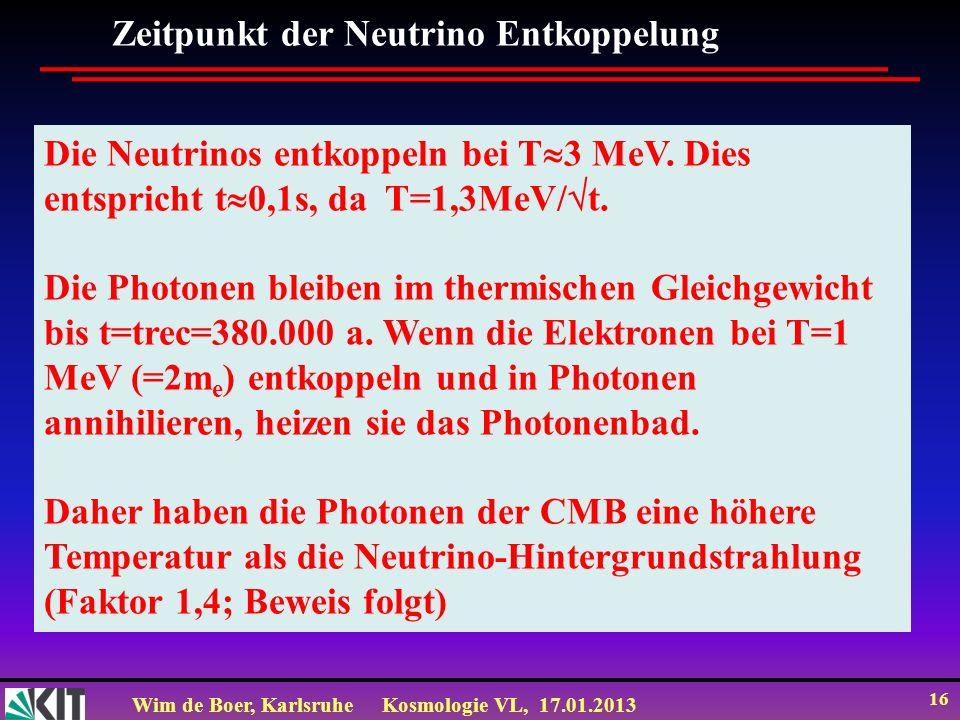 Zeitpunkt der Neutrino Entkoppelung