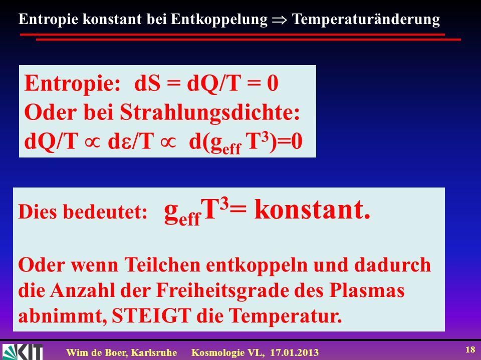 Oder bei Strahlungsdichte: dQ/T  d/T  d(geff T3)=0