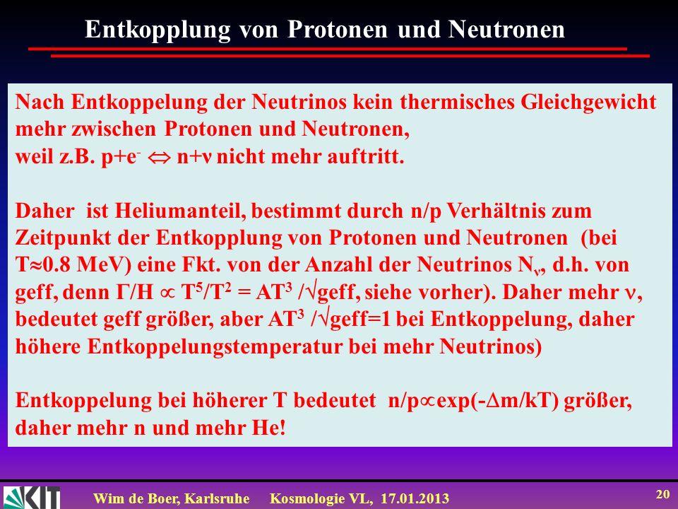 Entkopplung von Protonen und Neutronen