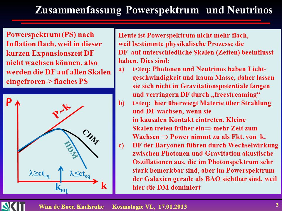 Zusammenfassung Powerspektrum und Neutrinos