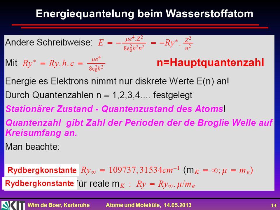 Energiequantelung beim Wasserstoffatom