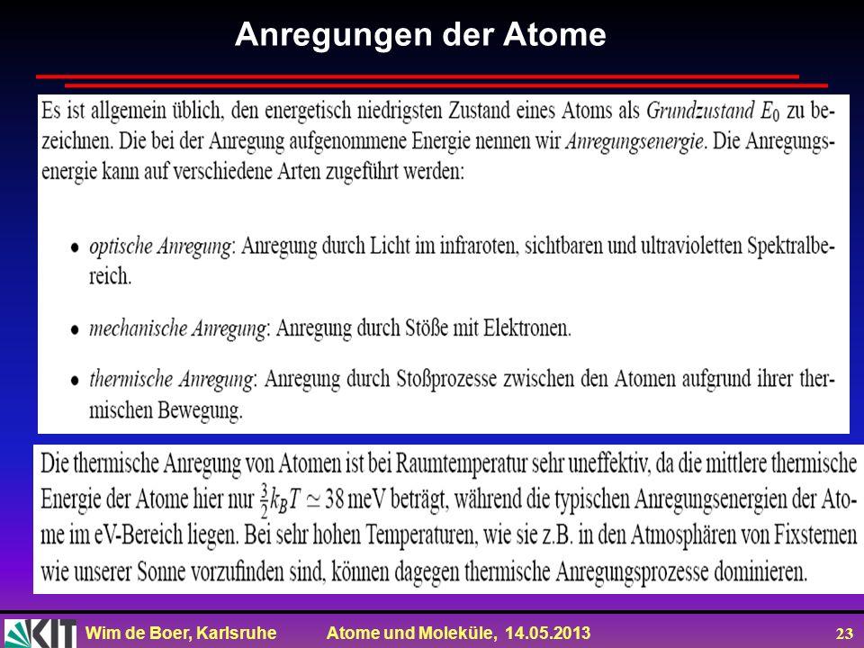 Anregungen der Atome