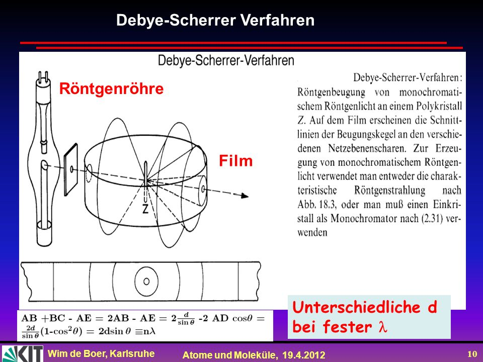 Debye-Scherrer Verfahren