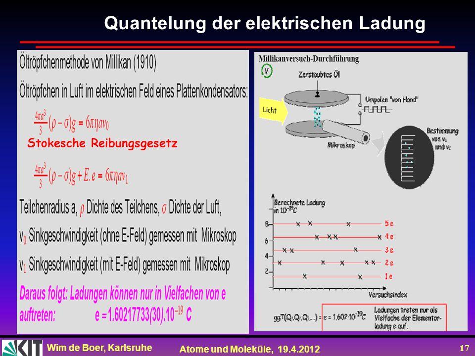 Quantelung der elektrischen Ladung