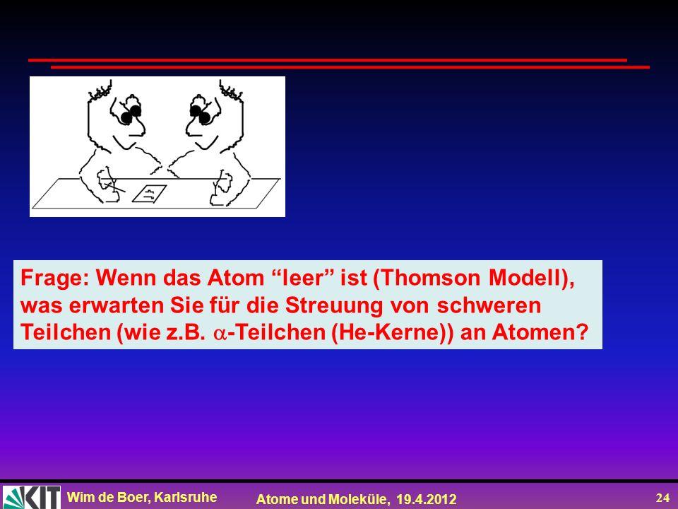 Frage: Wenn das Atom leer ist (Thomson Modell),